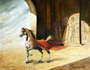Horse of Palace | Animal Oil Painting